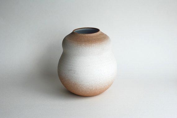 White Ceramic Vase Handmade Pottery Vase Unique Vase Etsy