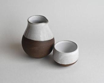 Handmade Sake Set - Sake Bottle - Sake Cup - Sake for One - Ceramic Sake Set - Sake Lover