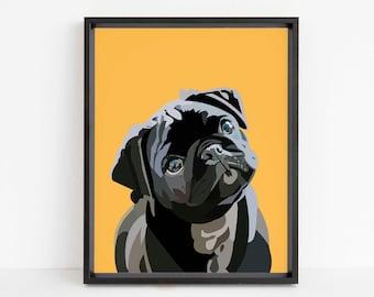 Pug Art, Pug Lover Gift, Pop Art Printables, Popart Print, Pop Art Dog, Pug Print, Pug Gifts, Pug Wall Art, Pug Mom, Pug gifts Boys, Dog Mum