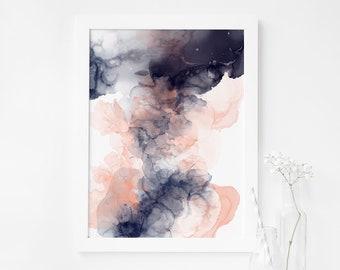 Alcohol Ink Art, Wall Art Abstract Art Prints, Living Room Decor, Bedroom Wall Art, Modern Art Print, Contemporary Wall Art For Office Gift