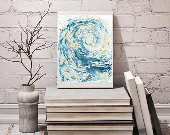 Ocean Print, Wave Print, Living Room Wall Decor, Office Wall Art, Sea Print, New Home Gift, Wave Paintings couples, Ocean Waves, Print Art