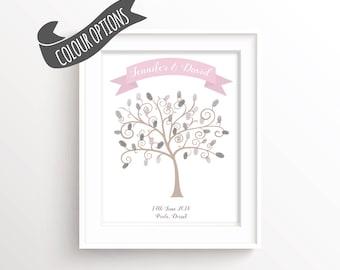 Wedding Guest Book Alternative Thumbprint Tree, Finger Print Tree Wedding Guest Book Tree, Wedding Fingerprint Tree, Wedding Keepsake Art