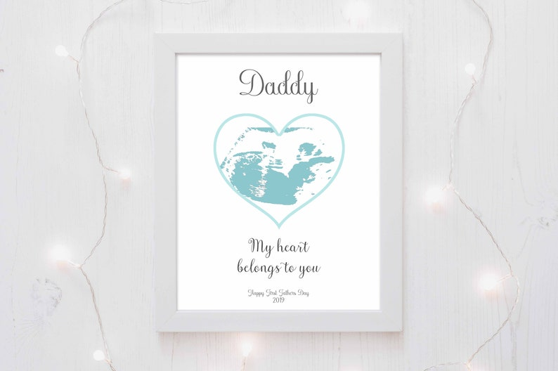 First Fathers Day Gift Idea Sonogram Art