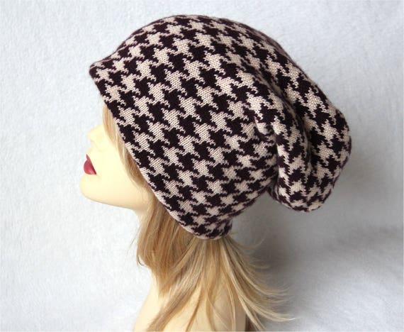 0d01eae5bd0 Pure cashmere long hat color Burgundy