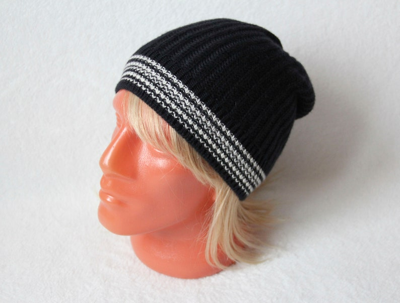 2b01cce6aa8 Cashmere knit hat dark dark blue color Men cashmere hat with