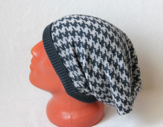 d660cf51360 Cashmere knit hat Slouchy beanie blue-grey and grey color Men