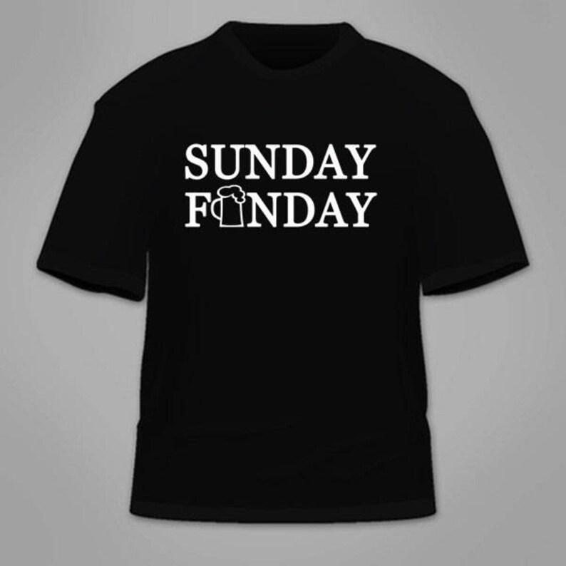 2ed084da9 Sunday Funday T-Shirt. Football Beer Drinking Booze T Shirt   Etsy