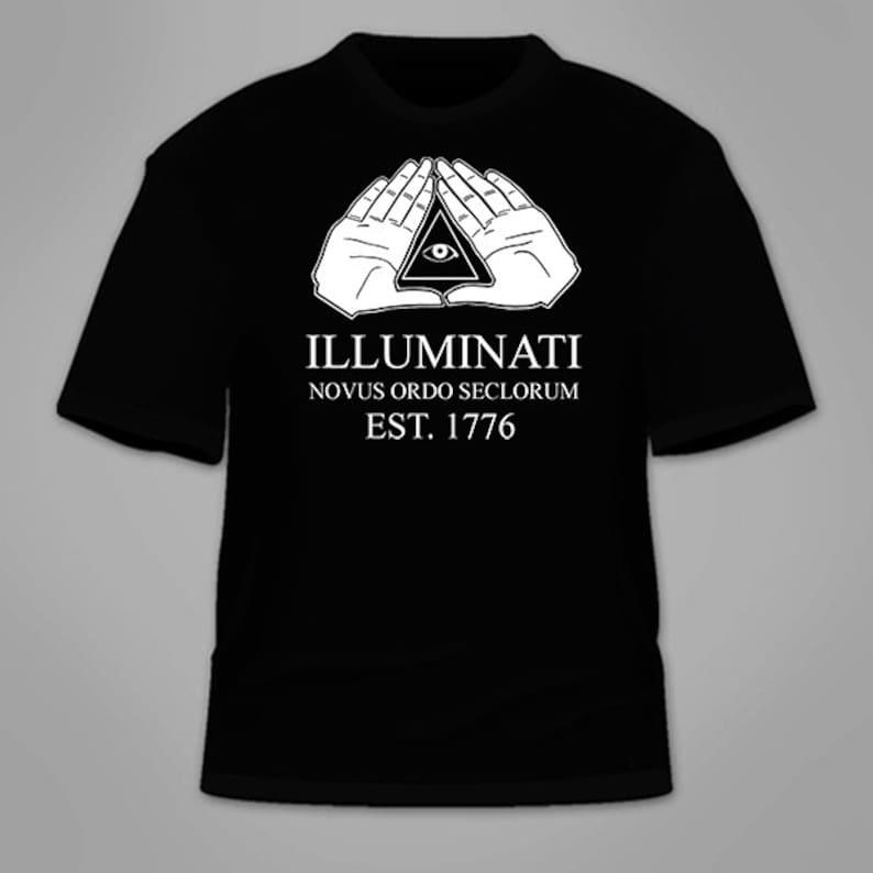 d4965cd29d97af Illuminati T-Shirt. Conspiracy Theory T Shirt NWO New World
