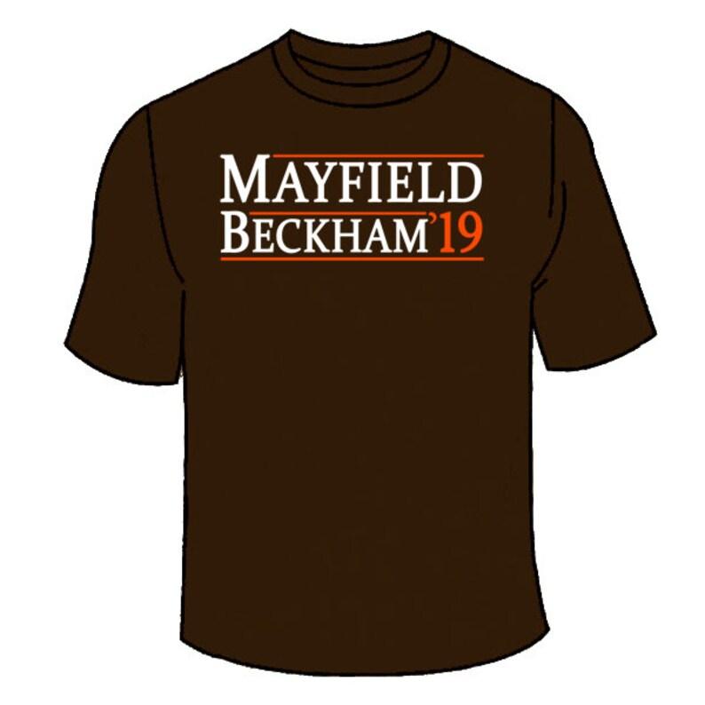 8e27e6e30e0 Mayfield Beckham 2019 T-Shirt. Cleveland Browns Baker Odell