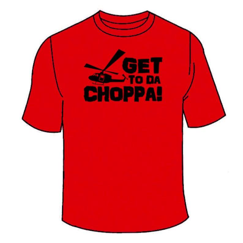 2189a348e Get To Da Choppa T-Shirt. Funny Movies The Predator Movie T   Etsy
