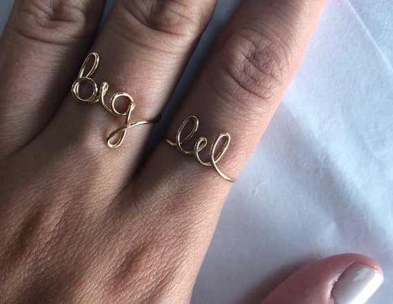 Große & Lil: Schwesternschaft/Geschwister Ringe | Etsy