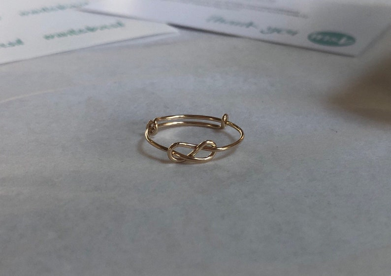 b948ab3bff9f7 Dainty Sailor's Knot Ring