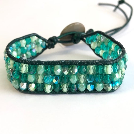 5e394f73f8cb Fitbit Flex2 bracelet green with envy beaded