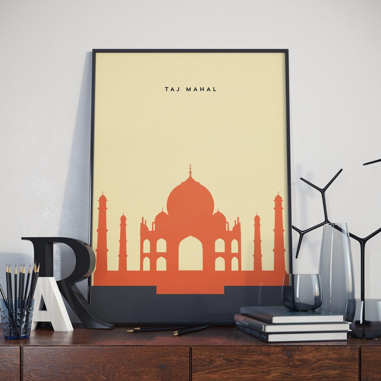 Taj Mahal Print. Poster. | Etsy