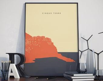 Cinque Terre, Italy Poster. Cinque Terre Print. Poster.