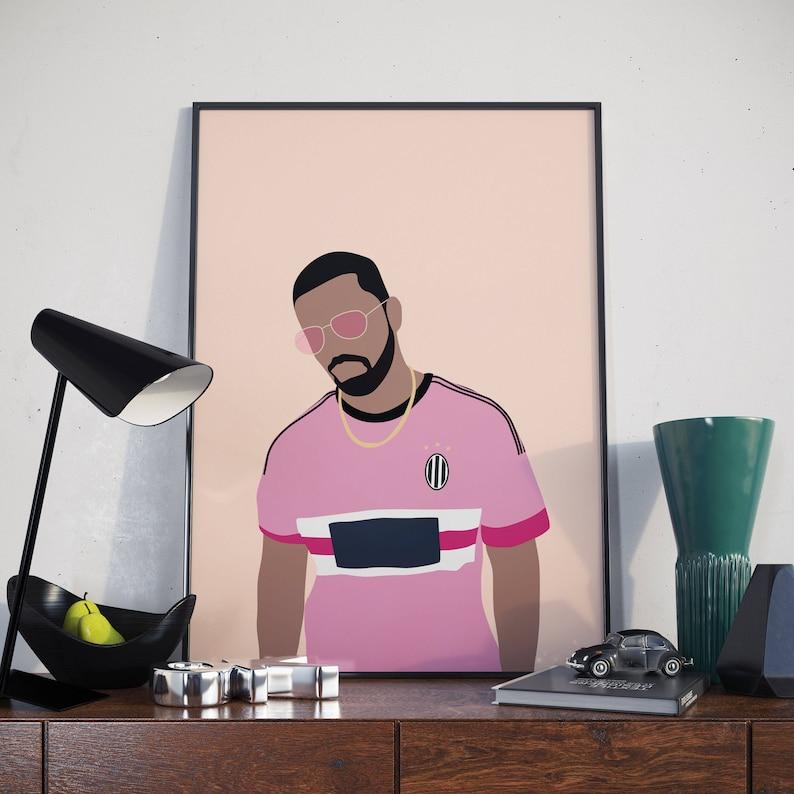 b9da5c4dd84 Drake Juventus Poster. More Life Drake Minimal Poster. Print.