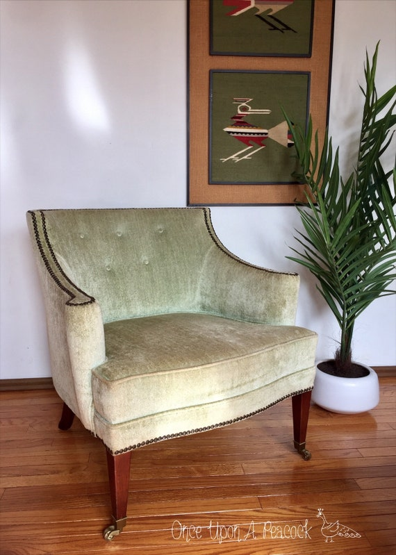 Amazing Mcm Mid Century Modern Set Of Matching Lounge Chairs Plush Light Green Pair Parlor Seats Vintage Set Of Chairs Dailytribune Chair Design For Home Dailytribuneorg