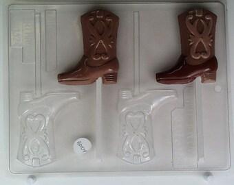 c54500d86dc Cowboy boot AO104 Chocolate Candy Mold