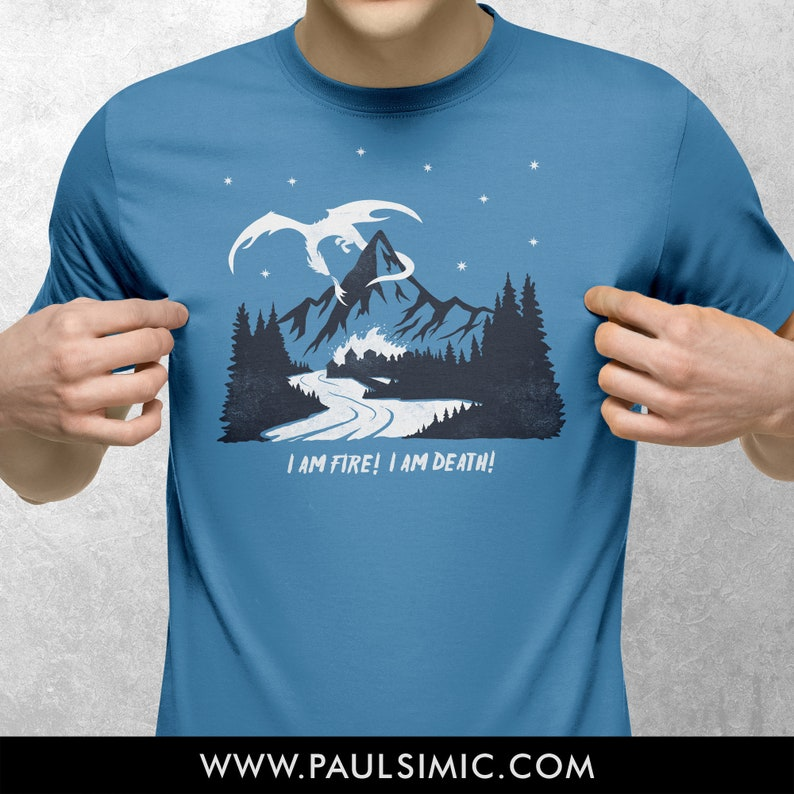 I AM FIRE  T-Shirt  Blue