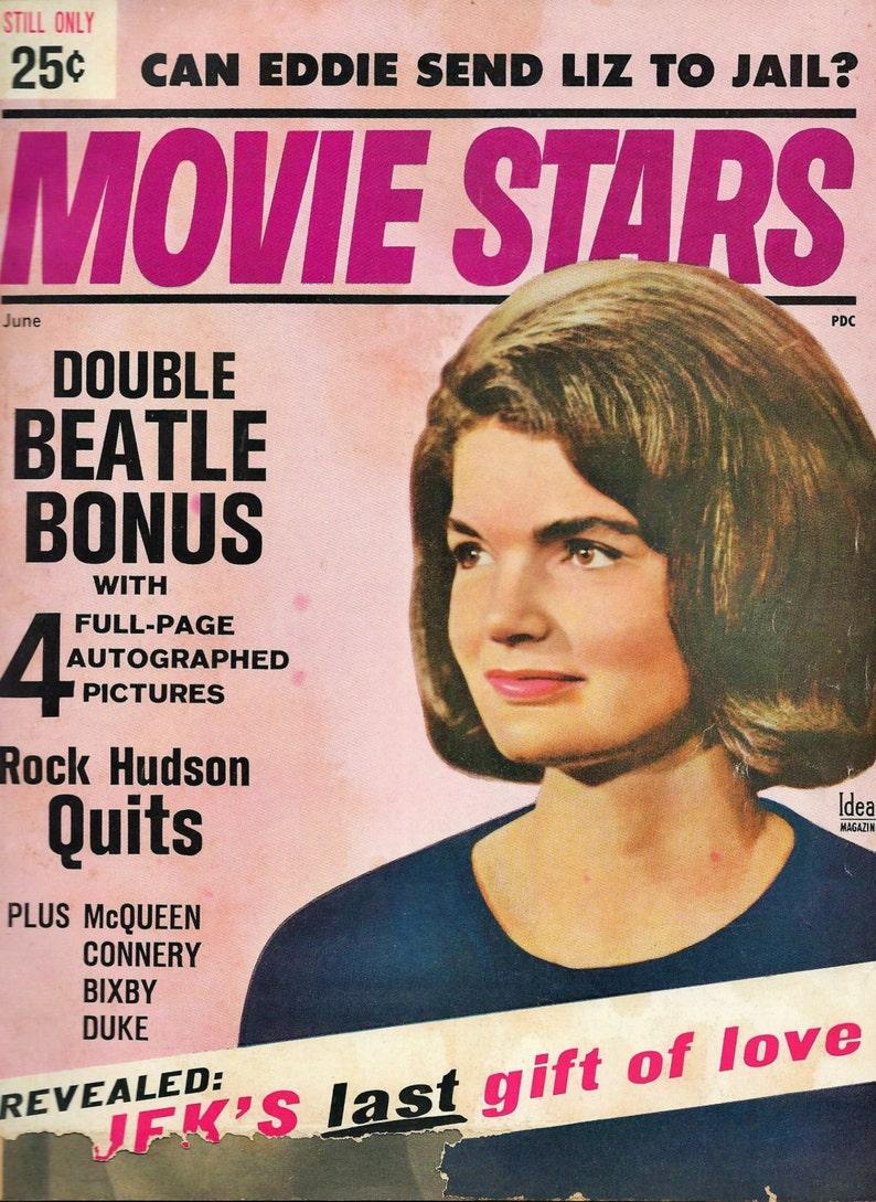 2 Jackie Kennedy 1960's Movie Magazines