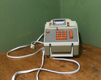 vintage adding machine, retro office electronics