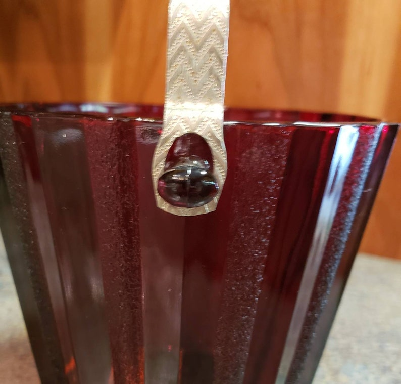 Stunning Anchor Hocking Royal Ruby Red Ice Bucket