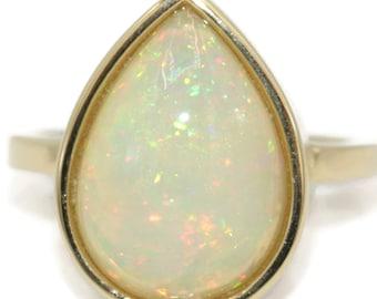 Teardrop Opal Engagement Ring by Irina