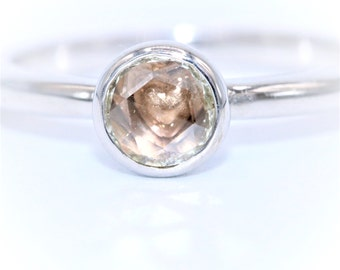 Heart ring, diamond ring, engagement ring, promise ring, dainty ring, Romantic Diamond Ring, Hidden Heart Ring, rose cut diamond ring, pink