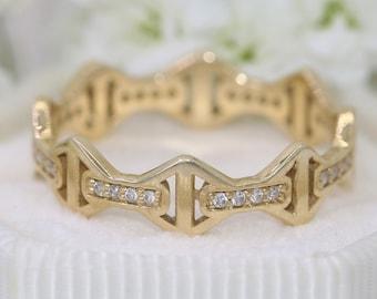 Edwardian Wedding Eternity Ring by Irina
