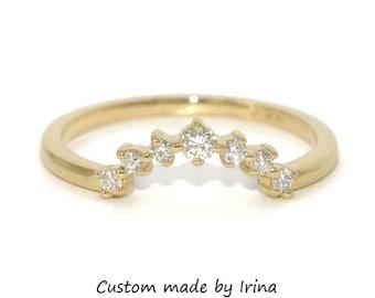Nesting Matching Diamond Wedding Band