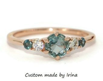 Montana Pastel Sapphire 5 Stone Ring