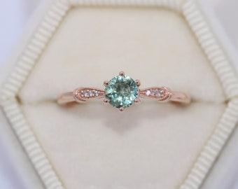 Pastel Green Montana Sapphire Ring