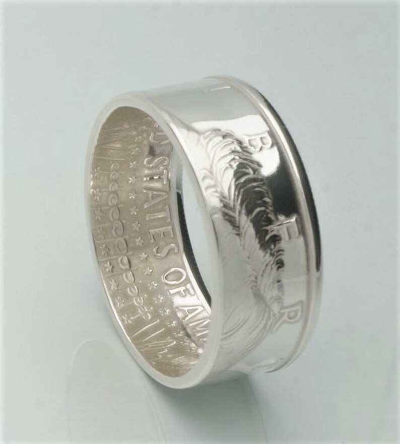 Obverse Polished Finish Double Sided 2002-2018 Top Quality Coin Ring 90/% Silver Kennedy Proof Half Dollar