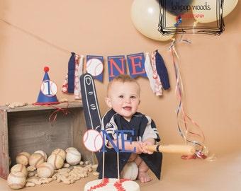 Ultimate cake smash package, baseball birthday, baseball banner, boys birthday, first birthday, sports birthday