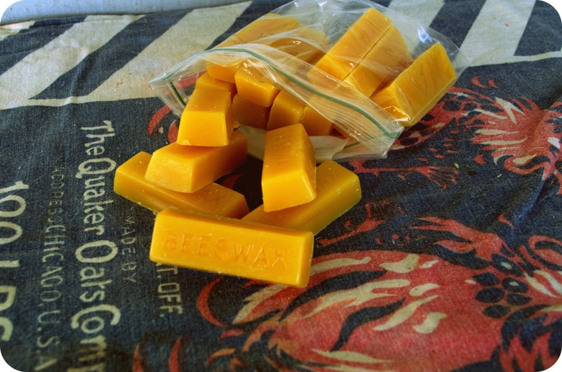 100% Raw Beeswax 16 1 oz. Bricks of Beeswax just over 1 image 1