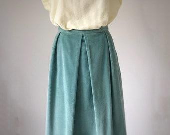 f4347cee08 Seafoam Corduroy Skirt