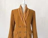 80s Orange Blazer, Shawl Collar Jacket