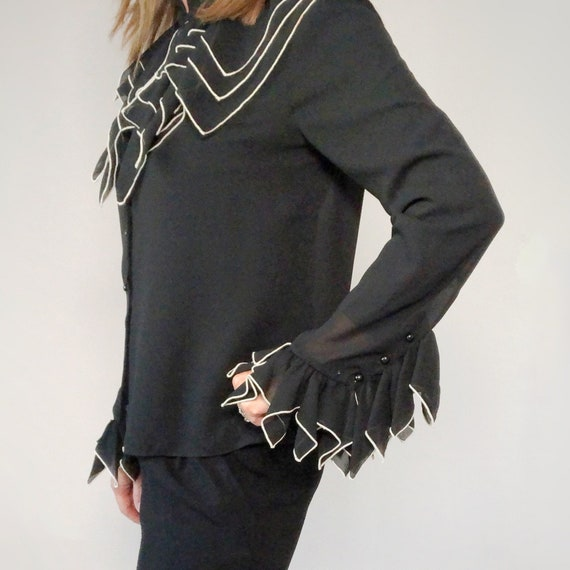 Black Statement Blouse, Rock Goddess Blouse