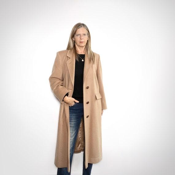 Classic Wool Coat, Preppy Camel Winter Coat