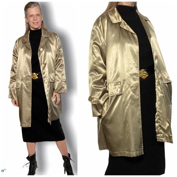 90s Metallic Coat, Sanyo Trench Raincoat