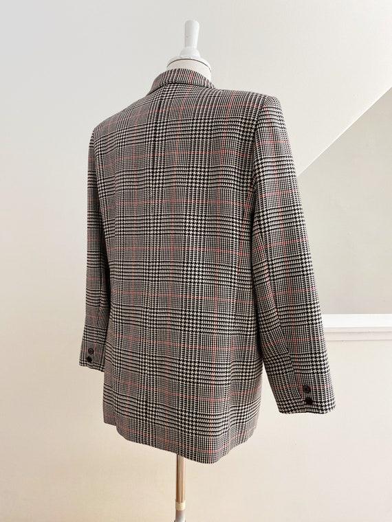 Boxy Plaid Blazer, Oversized Wool Blazer - image 6