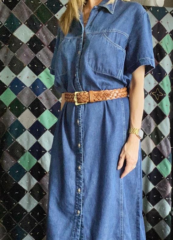 Denim Maxi Shirtdress, Oversized Denim Dress