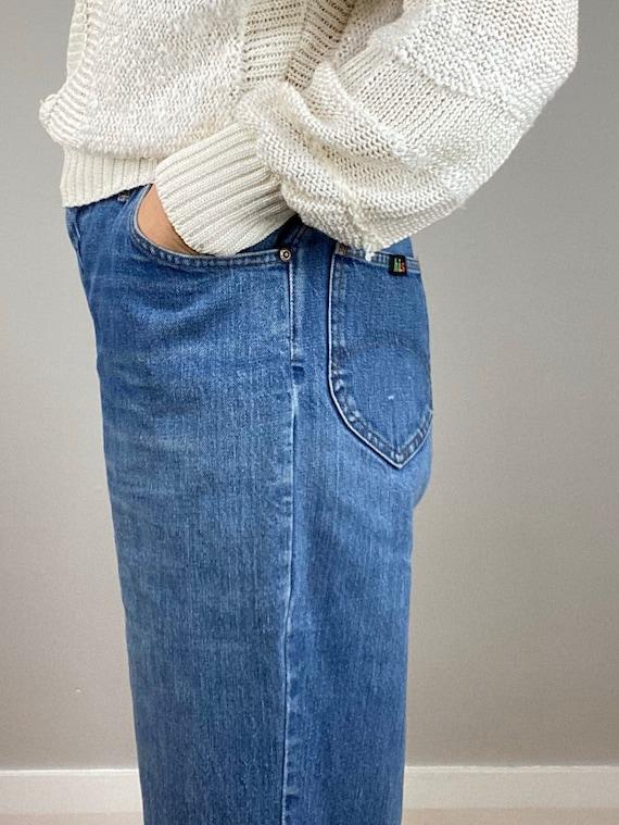 Vintage 70s HIS Blue Jeans, Chic Jeans, Wide Legg… - image 2