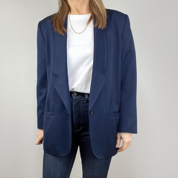 Oversized Blue Blazer, Minimalist Blazer