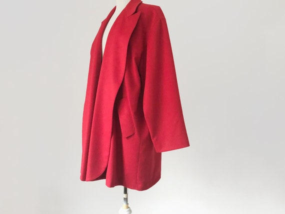 Gianfranco Ferre, Vintage Red Wool Swing Coat, Mid Thigh Oversized Size Medium by Etsy