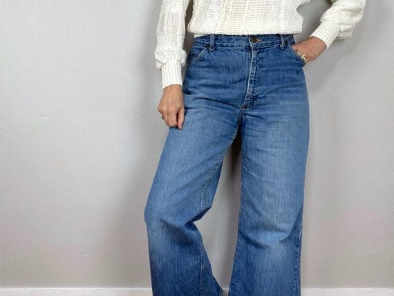 Vintage 70s HIS Blue Jeans, Chic Jeans, Wide Legg… - image 1