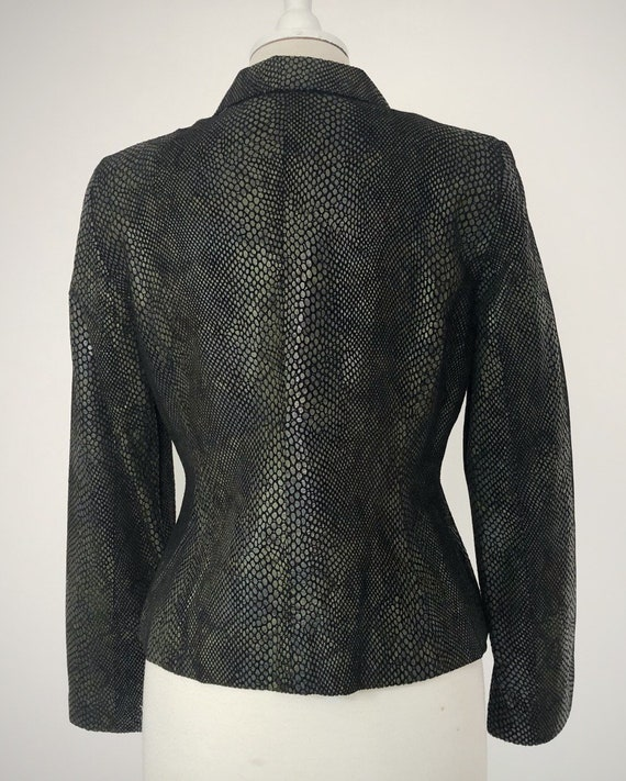Snakeskin Print Suit, 90s Leather Pants and Jacket - image 6