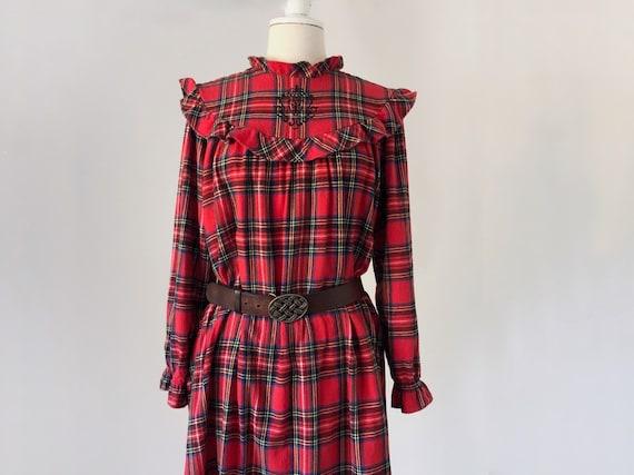 6b70ab99e5 Flannel Dress Prairie Dress Lanz of Salzburg Nightgown