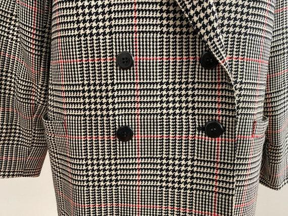 Boxy Plaid Blazer, Oversized Wool Blazer - image 7
