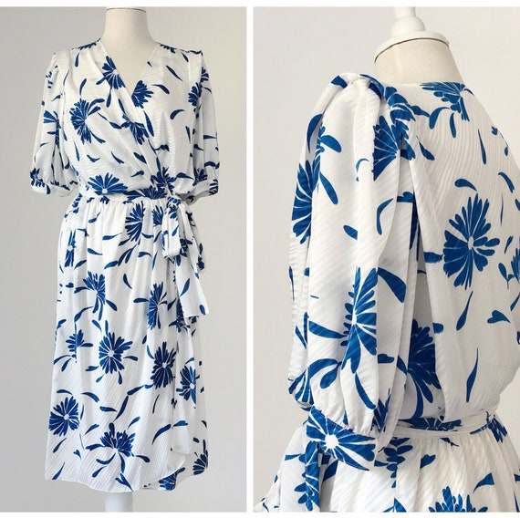 80s Ted Lapidus, White Floral Dress